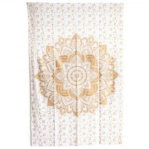 Tapestry Mandala Cotton Golden Authentic (215 x 135 cm)