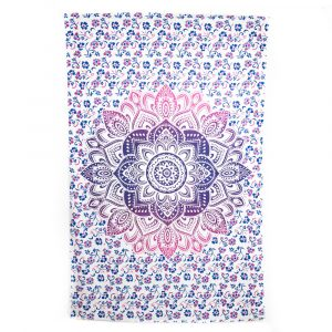 Tapestry Mandala Cotton Pink/Blue Authentic (240 x 210 cm)