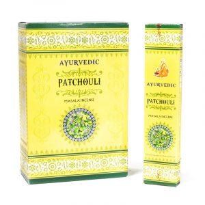 Ayurvedic Masala Incense Patchouli Premium (12 boxes)