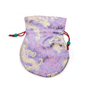 Brocade Bag Handmade - Lilac