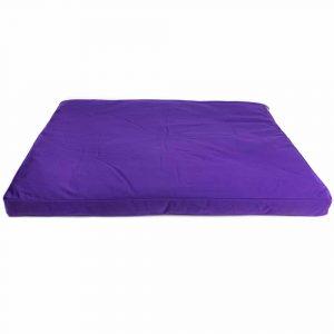 Meditation Mat Zabuton Violet Cotton - 86 x 66 x 6 cm - Incl. Inner Cover