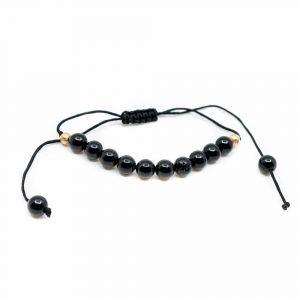 Gemstone Bracelet Black Tourmaline Adjustable