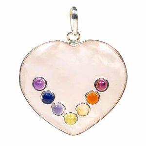Heart shape Chakrahanger Rose Quartz