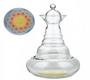 Vitality water carafe Happy Alladin with Flower of Life Colour