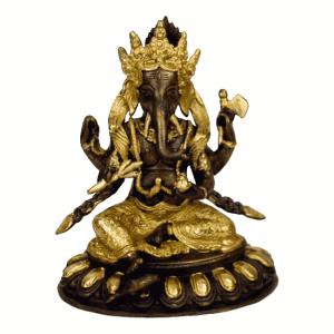 Ganesha Brass Two-colour - 20 cm