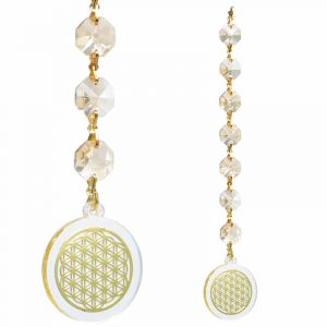 Feng Shui Flower of Life Window decoration Champagne