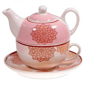 Tea for One Mandala Pink