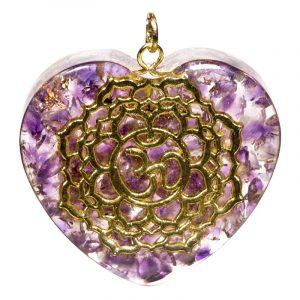 Orgon Pendant Seventh Chakra Heart shaped