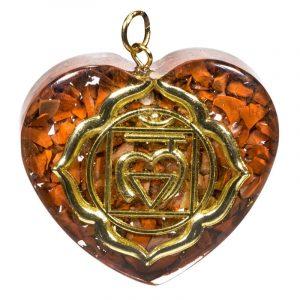 Orgon Hanger First Chakra Heart shaped