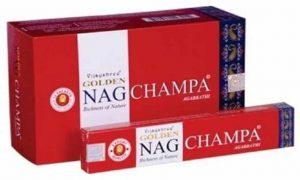 Golden Nag Incense Champa (12 packets)