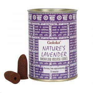 Goloka Backflow Incense Cones Lavender