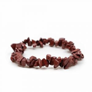 Gemstone Chip Bracelet Red Jasper (19 cm)