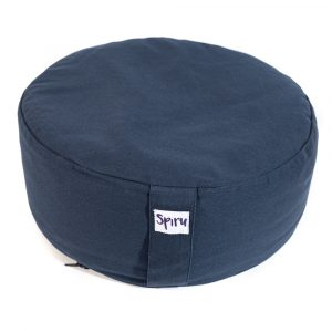 Spiru Meditation Cushion Round Cotton Dark blue - 36 x 15 cm