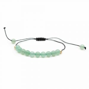 Gemstone Bracelet Green Aventurine Adjustable