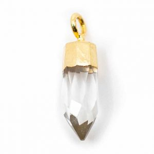 Gemstone Pendant Point Rock Crystal (12 mm)