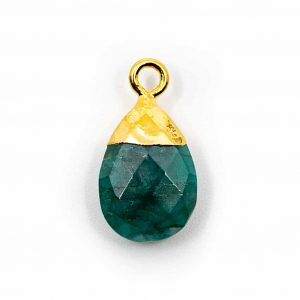 Gemstone Pendant Emerald Pear-shaped (10 mm)