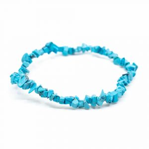 Gemstone Chip Bracelet Turquoise Blue
