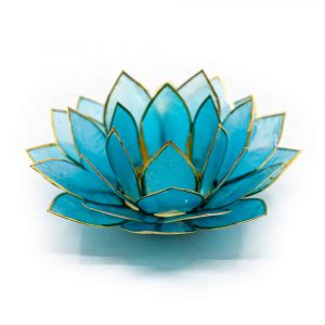 Lotus Mood Light Blue Gold Edge - Deluxe