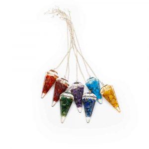 Seven Chakra Orgonite Pendulum Set