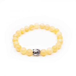 Gemstone Bracelet Calcite with Buddha