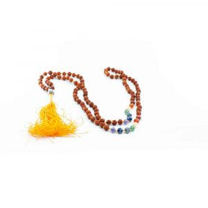 Rudraksha Chakra Gemstones Buddha Mala - 108 Beads