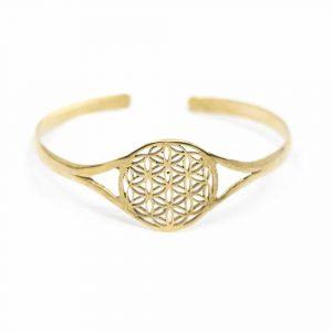 Bracelet Flower of Life Adjustable Gold-Tone