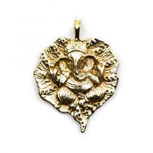 Pendant Ganesha Gold-coloured (30 mm)