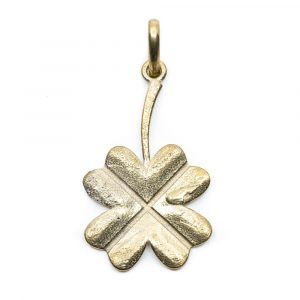 Pendant Four-leaf Clover - Gold-coloured (40 mm)