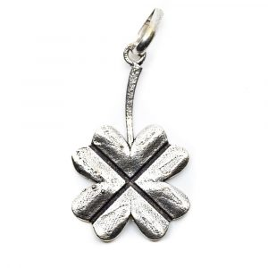 Pendant Four-leaf Clover - Silver-coloured (40 mm)