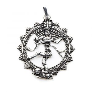 Pendant Shiva Silver-coloured (35 mm)