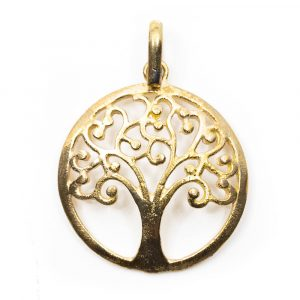 Pendant Tree of Life Brass Gold (25 mm)