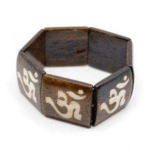 Wooden Bracelet with Square Beads OHM