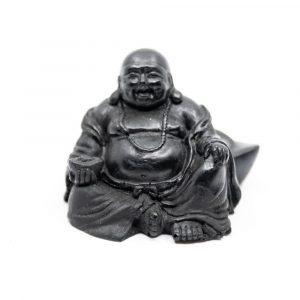 Shungite Statue Happy Buddha Pressed