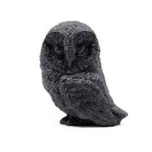 Shungite Statue Owl - Pressed