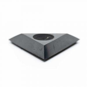 Shungite Triangle Standard for Gem Ball (60 mm)