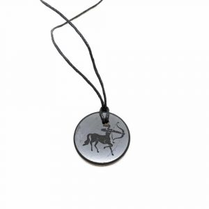 Shungite Horoscope Pendant Sagittarius (30 mm)