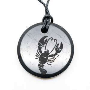 Shungite Horoscope Pendant Cancer (30 mm)