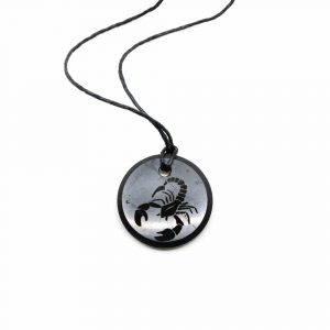 Shungite Horoscope Pendant Scorpio (30 mm)
