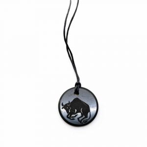 Shungite Horoscope Pendant Taurus (30 mm)