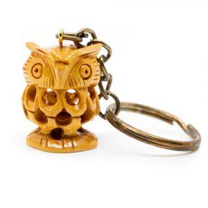 Wooden Keychain Owl Handmade (20 mm)