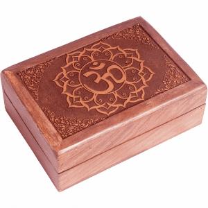 Tarot Box Om Engraved