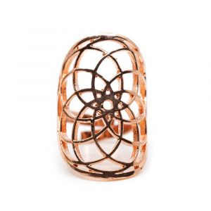 Adjustable Ring Seed of Life Rose Gold-tone (30 mm)