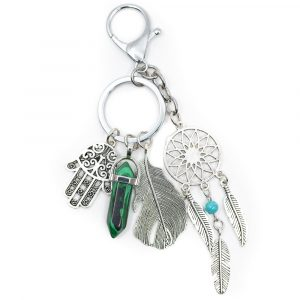 Keychain Dreamcatcher Hamsa & Double Terminated Catcher