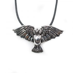 Viking Pendant Owl with Spread Wings