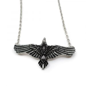 Viking Pendant Crow with Spread Wings