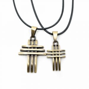 Spiritual Pendant Modern Crosses Gold-coloured