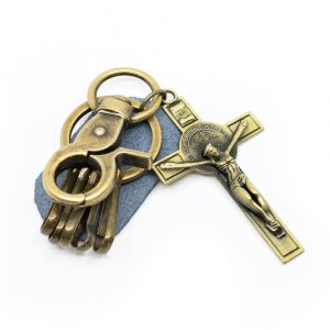 Keychain Jesus on Cross Gold-coloured
