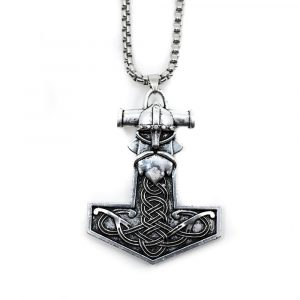 Talisman Viking Thor's Hammer with Viking Head