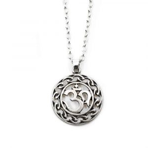 Tibetan OHM Pendant Silver-coloured