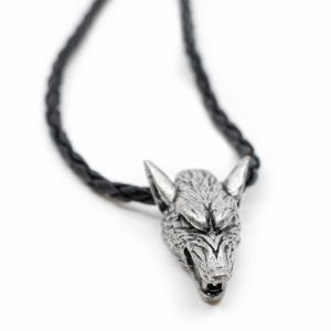 Protective Pendant Viking Silver-coloured Wolf